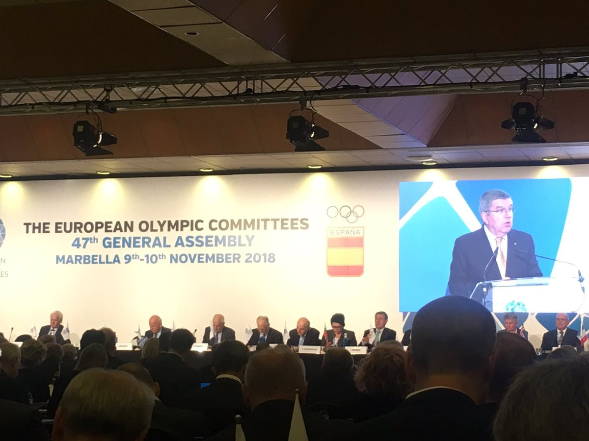 "Bach calls on NOCs to work with Governments to defend European sports model from ""serious threat"" of commercial enterprises"
