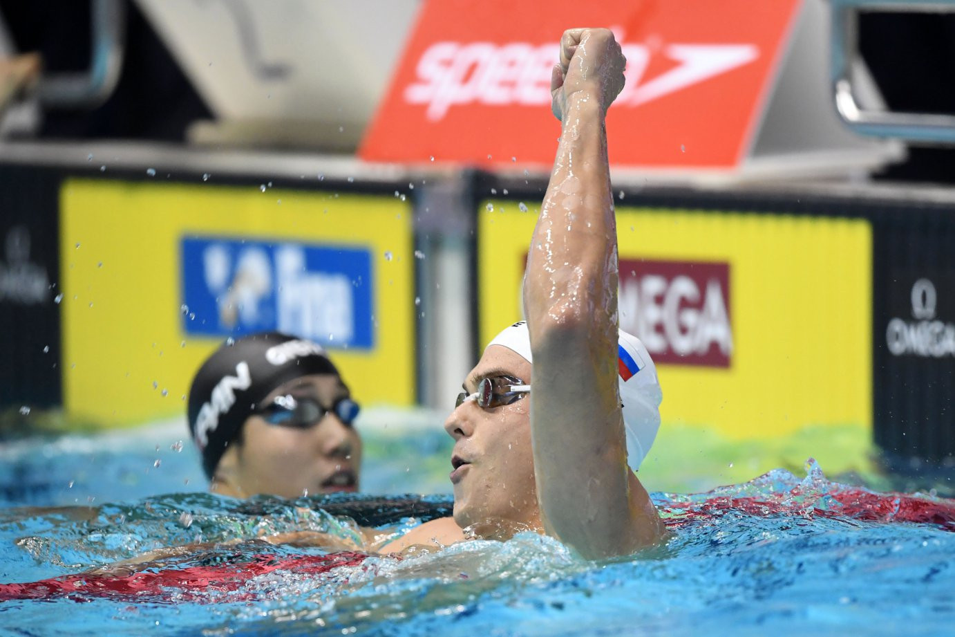 Russia's Vladimir Morozov had another great day in the pool at the FINA World Cup in Tokyo ©FINA