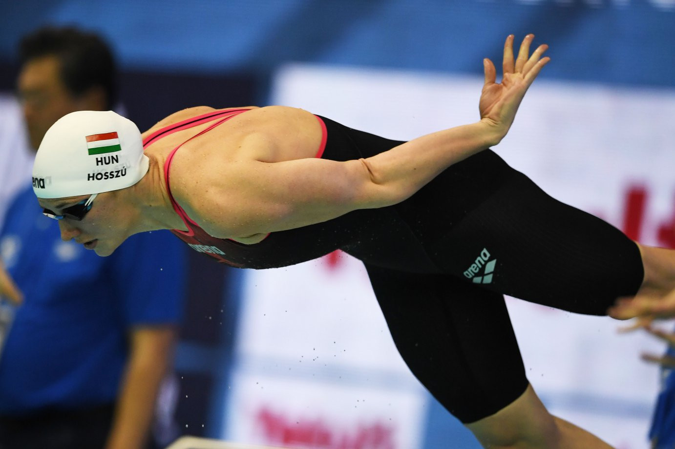 Katinka Hosszu of Hungary won the latest match-up with her perennial rival Sarah Sjostrum at the FINA World Cup in Tokyo ©FINA