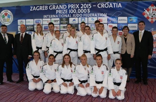 The Croatian team was unveiled at the Panorama Hotel, opposite the Dom Sportova Arena, today ©IJF