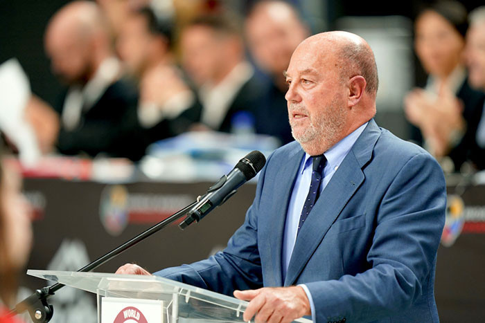 WKF President Antonio Espinós has warned Spain's hosting of future major karate events is in serious jeopardy ©WKF
