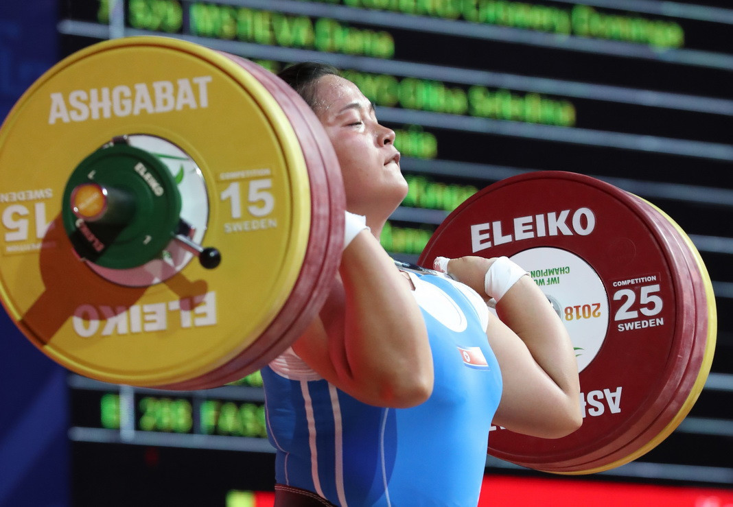 Kim managed to overcome Ao in the clean and jerk, but it was not enough to secure victory in the total ©IWF