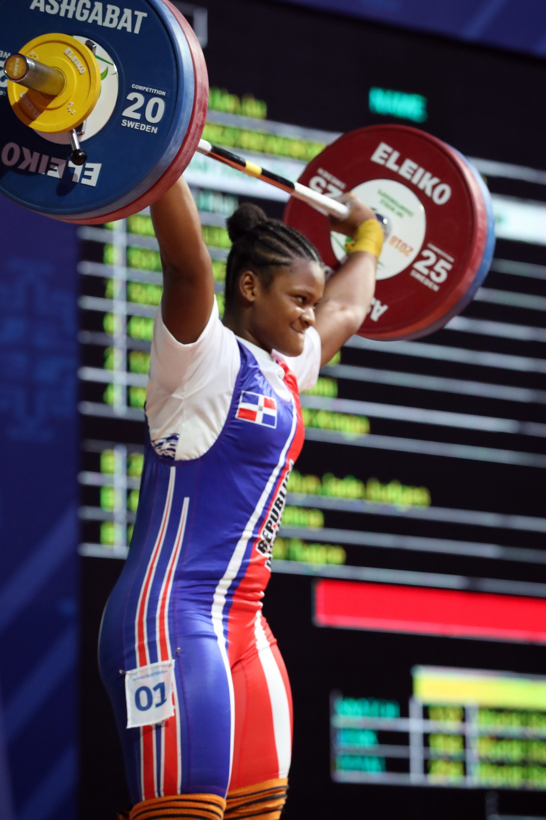 The Dominican Republic's Crismery Dominga Santana Peguero won the bronze medal in the total ©IWF