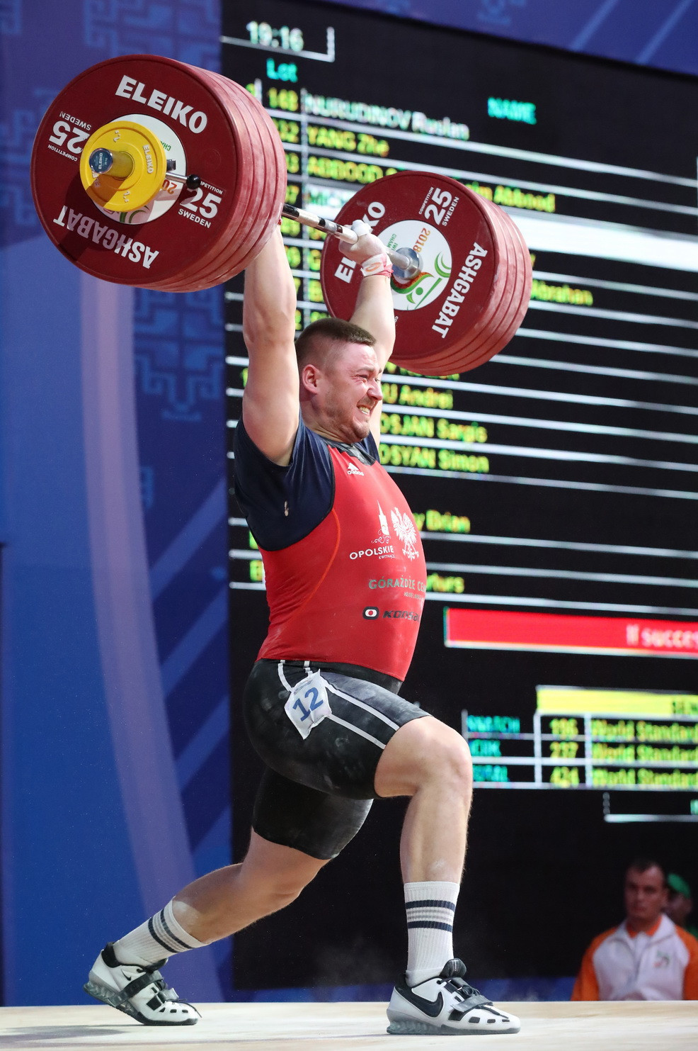 Rounding out the overall podium was Poland's Arkadiusz Michalski ©IWF