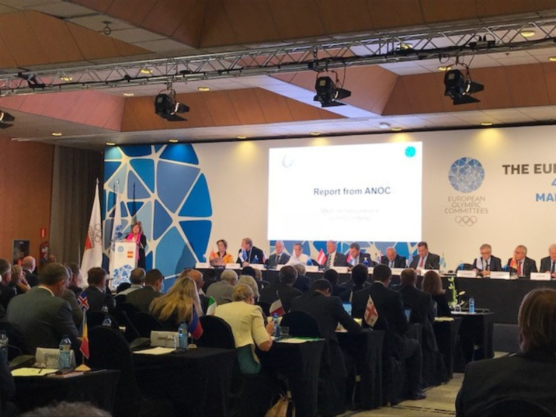 ANOC secretary general Gunilla Lindberg confirmed the candidates during a speech to the EOC General Assembly ©ANOC