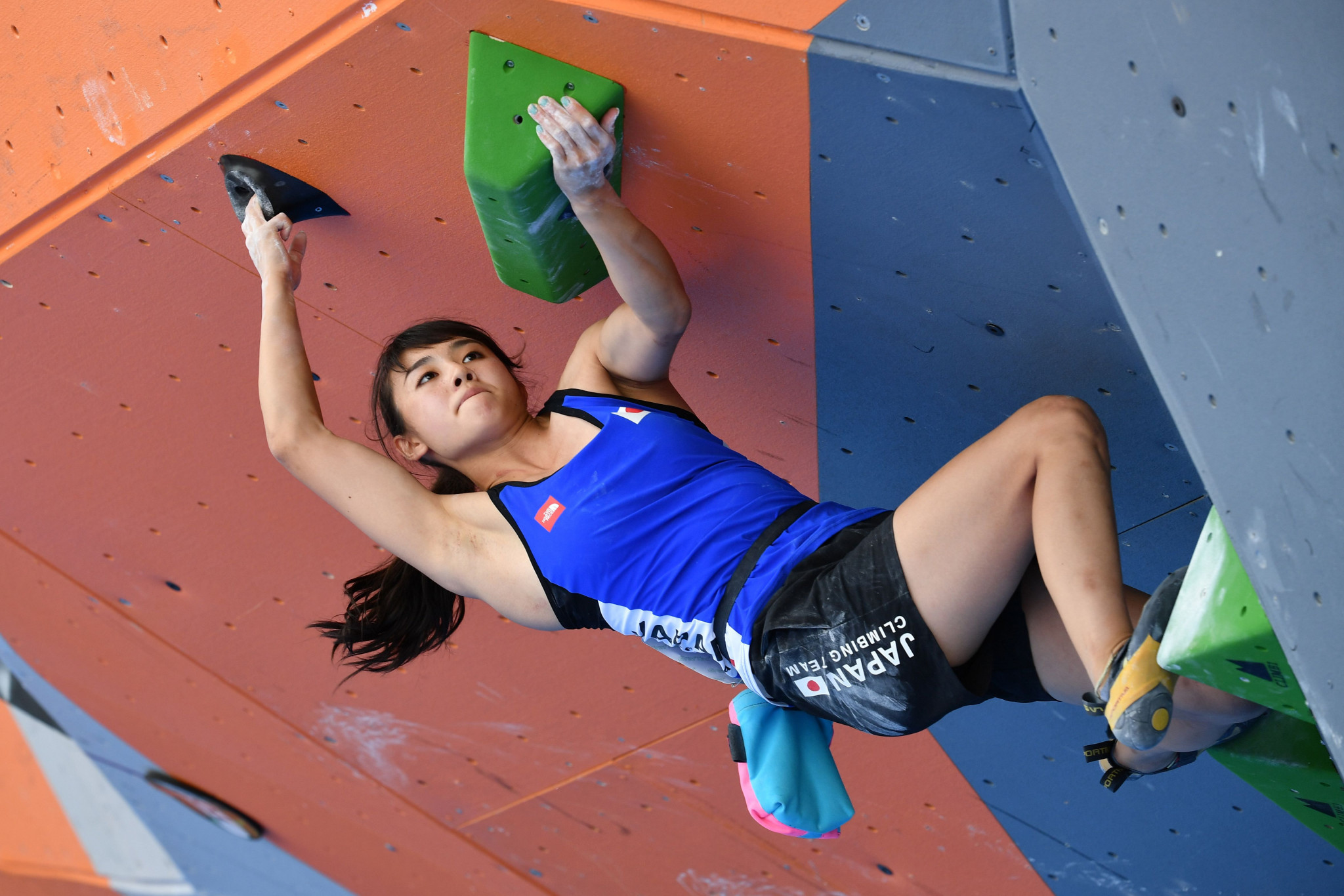 Japan's Futaba Ito won gold in the women's bouldering event at the IFSC Asian Championships ©Getty Images