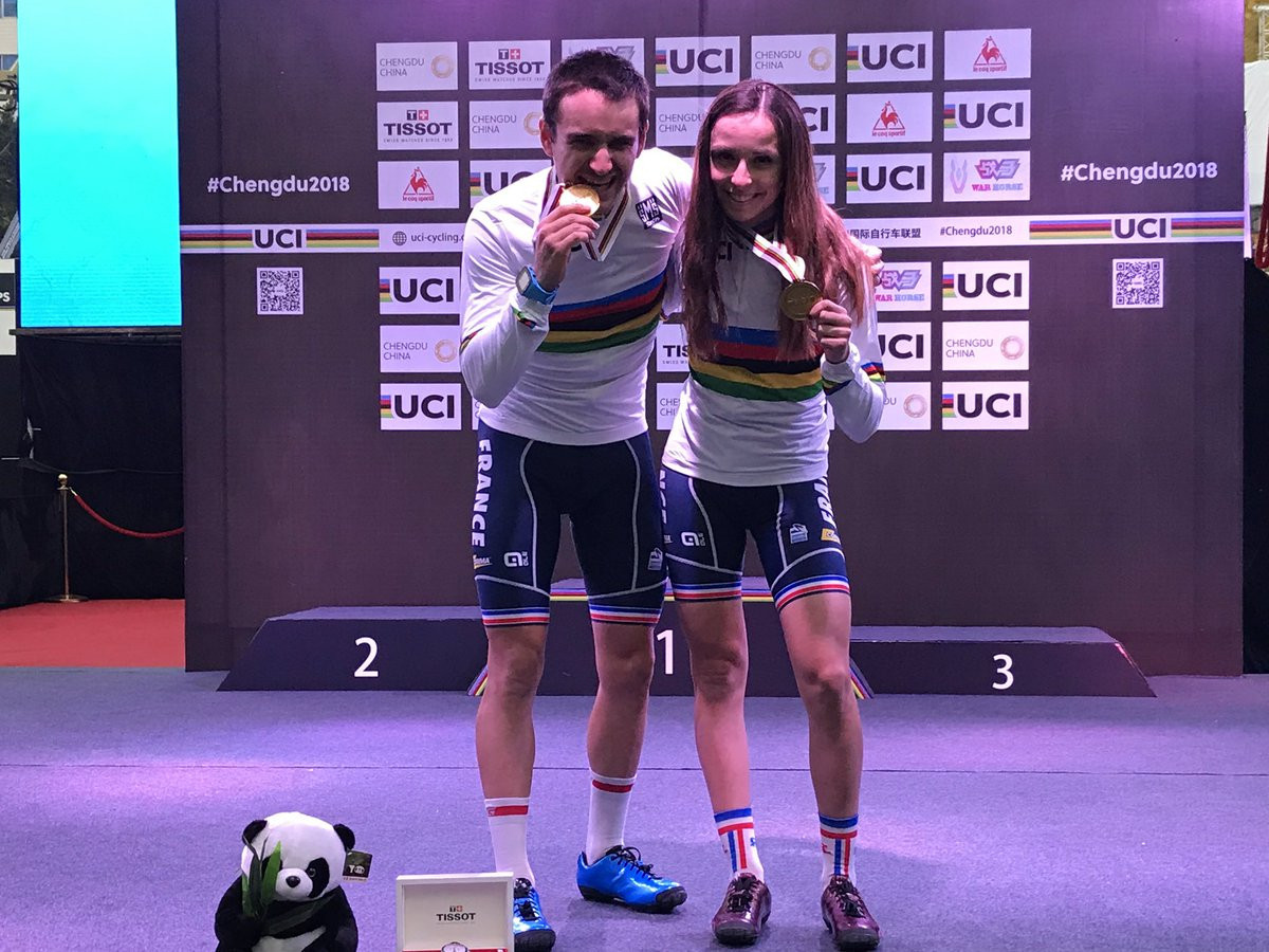 France secure double gold in mountain bike eliminator at UCI Urban Cycling World Championships