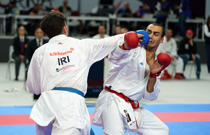 Iran beat Italy to reach the final of the men's team kumite competition ©WKF