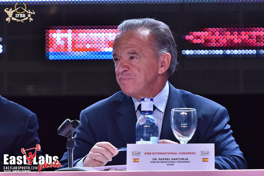 Rafael Santonja of Spain has been re-elected as President of IFBB for the fourth time ©Jakob Csontos/EastLabs