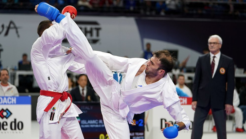 Defending champions France and Iran book team final places at Karate World Championships