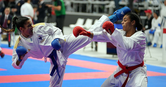 France were in impressive form as they reached the women's final ©WKF