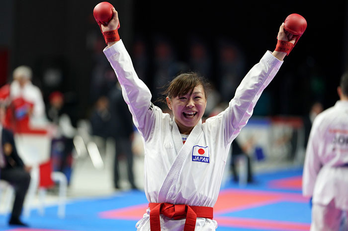 Japan stand between France and a fourth women's team kumite title ©WKF