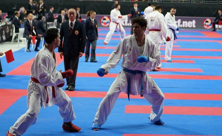 The men's event also provided thrilling action on day four ©WKF