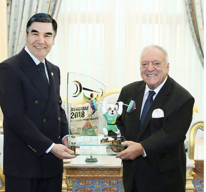 International Weightlifting Federation chief meets Turkmenistan President during 2018 World Championships in Ashgabat