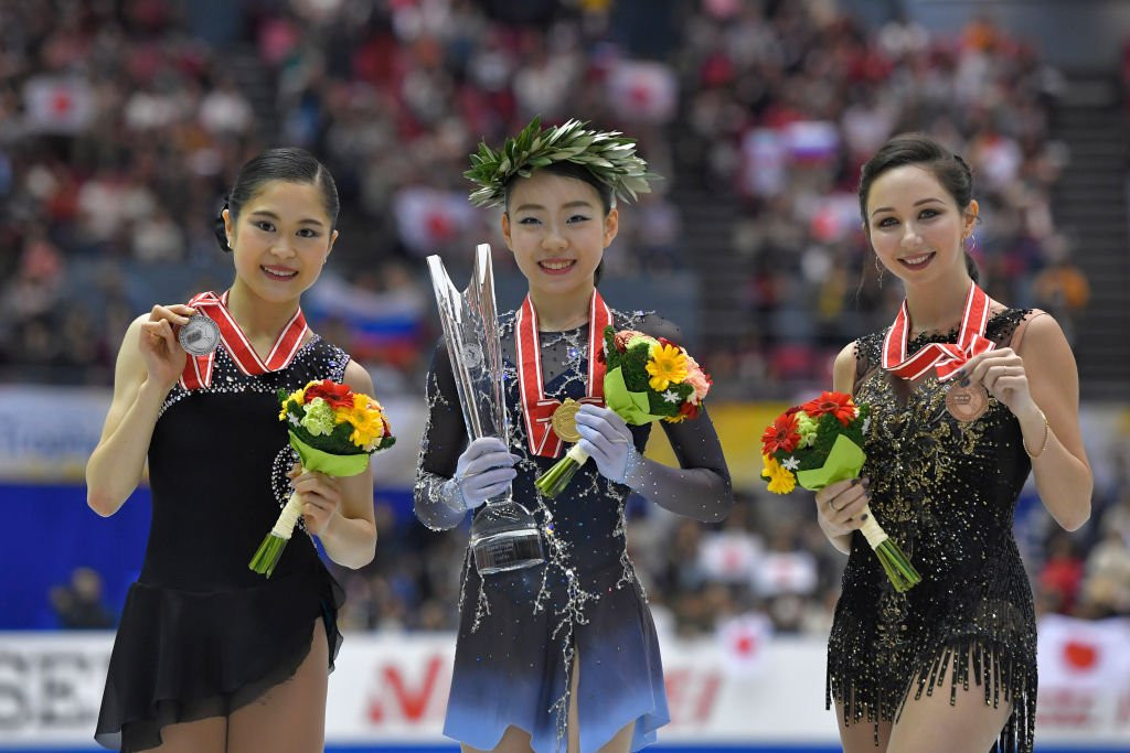 Japan took gold and silver in the ladies' event to the delight of the home fans ©ISU