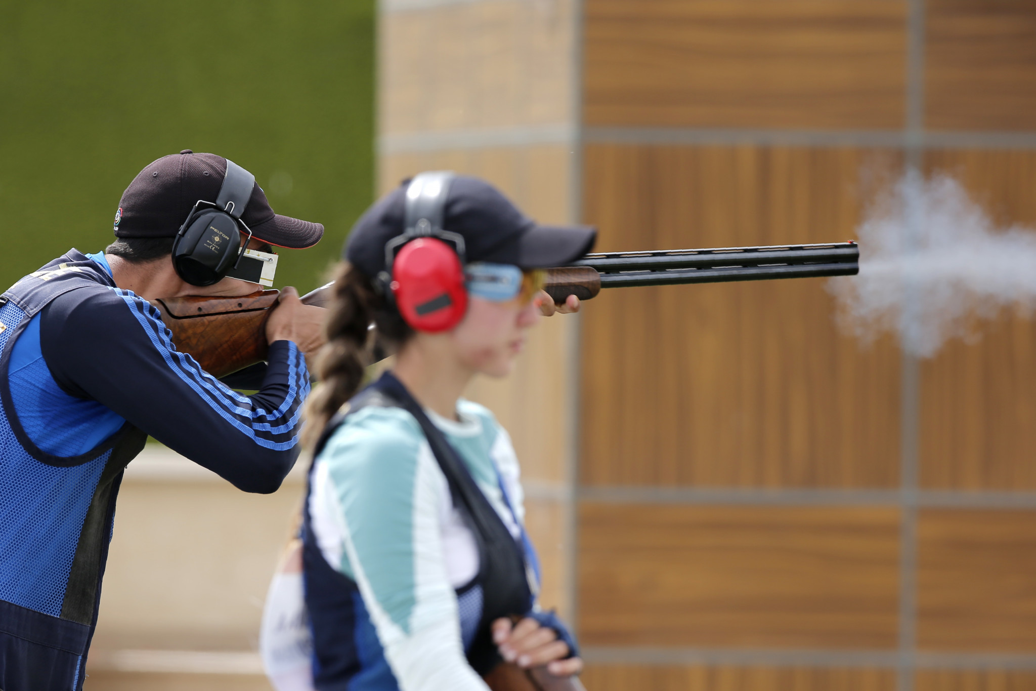 The mixed team trap events will be contested tomorrow on the final day of competition ©Getty Images