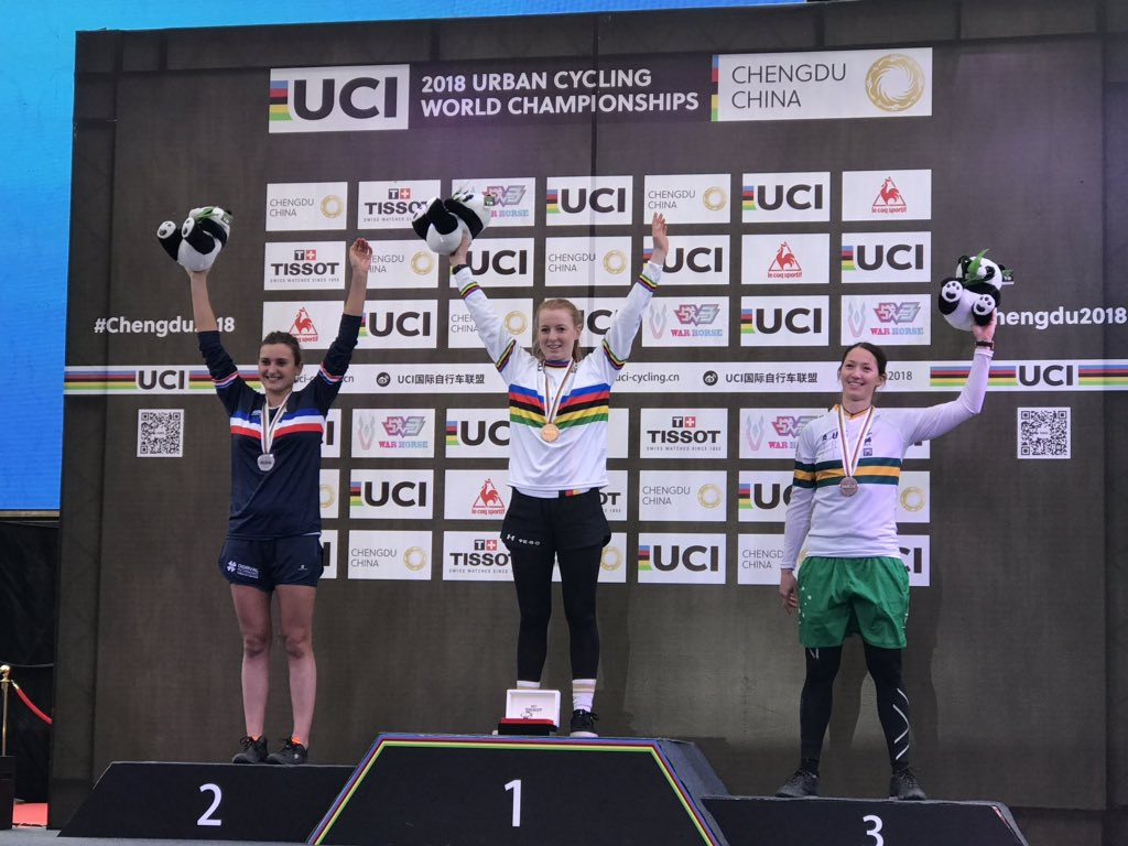Nina Reichenbach retained her trials world title ©UCI