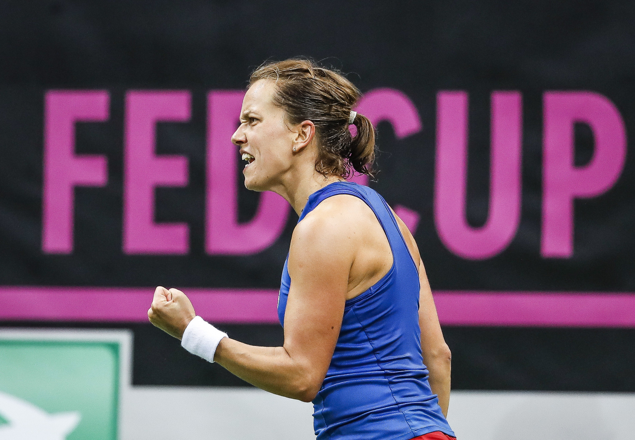 Czech Republic take 2-0 lead against defending champions United States in Fed Cup final