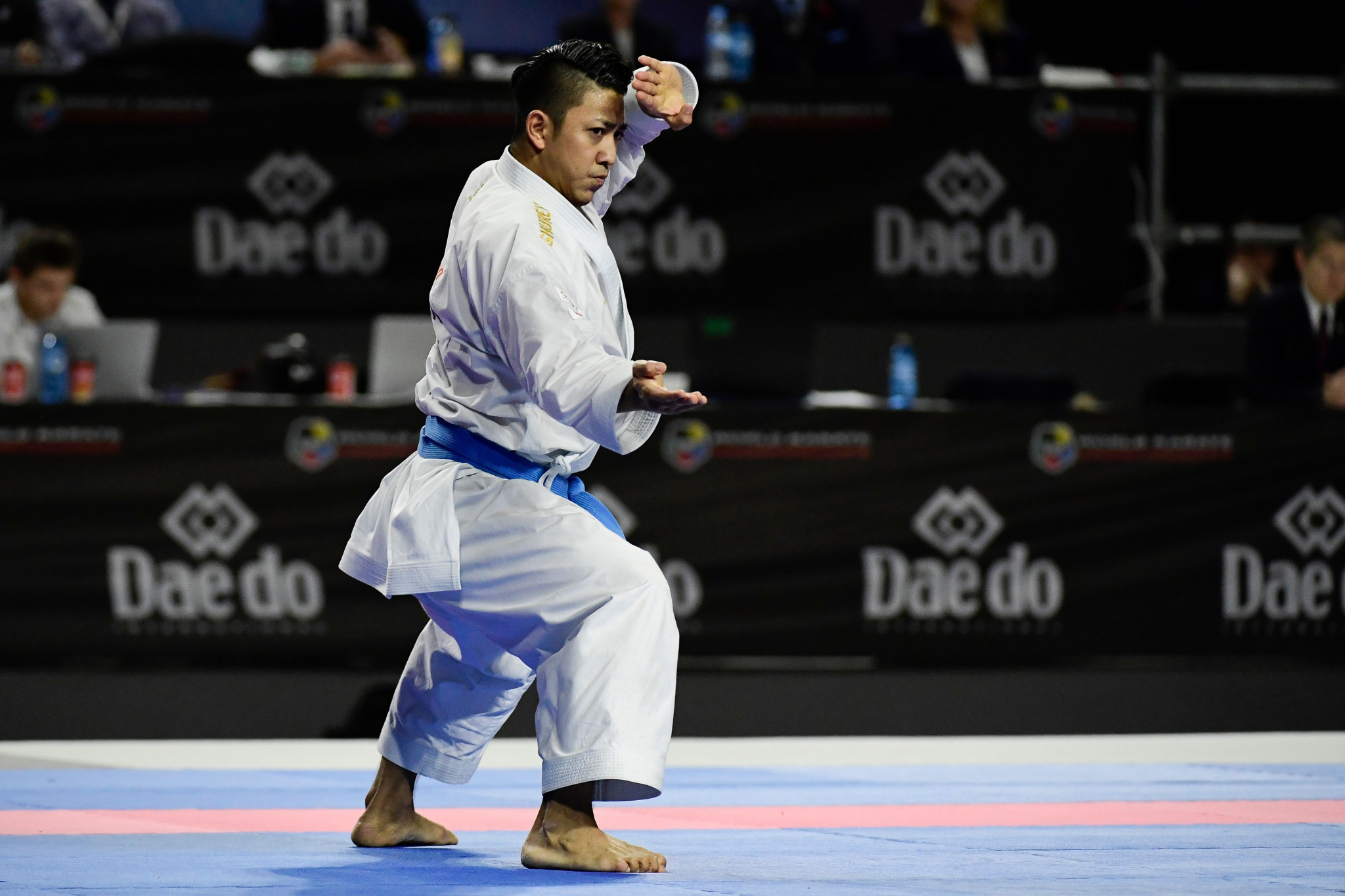 Ryo Kiyuna extended his reign of dominance in the men's kata event ©Getty Images
