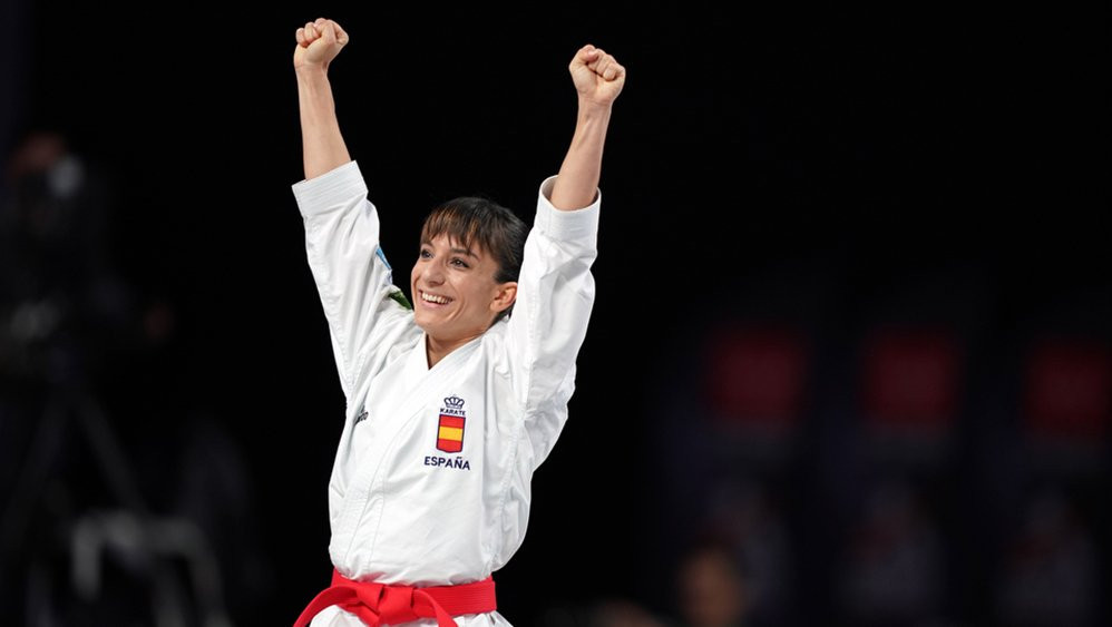 Spain's Sandra Sanchez was crowned world women's kata champion for the first time ©WKF