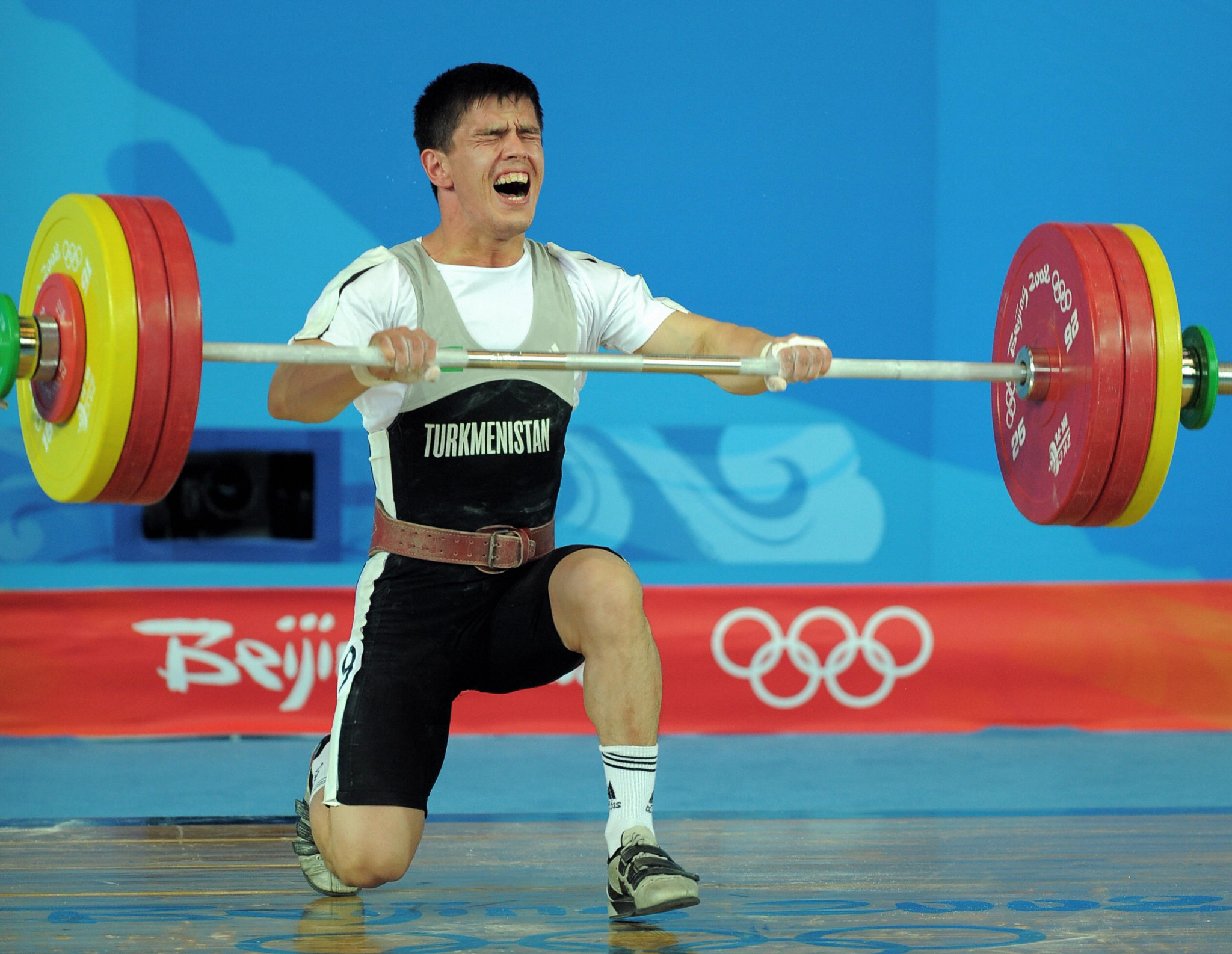 Umurbek Bazarbayev lifted at four Olympic Games  ©Getty Images