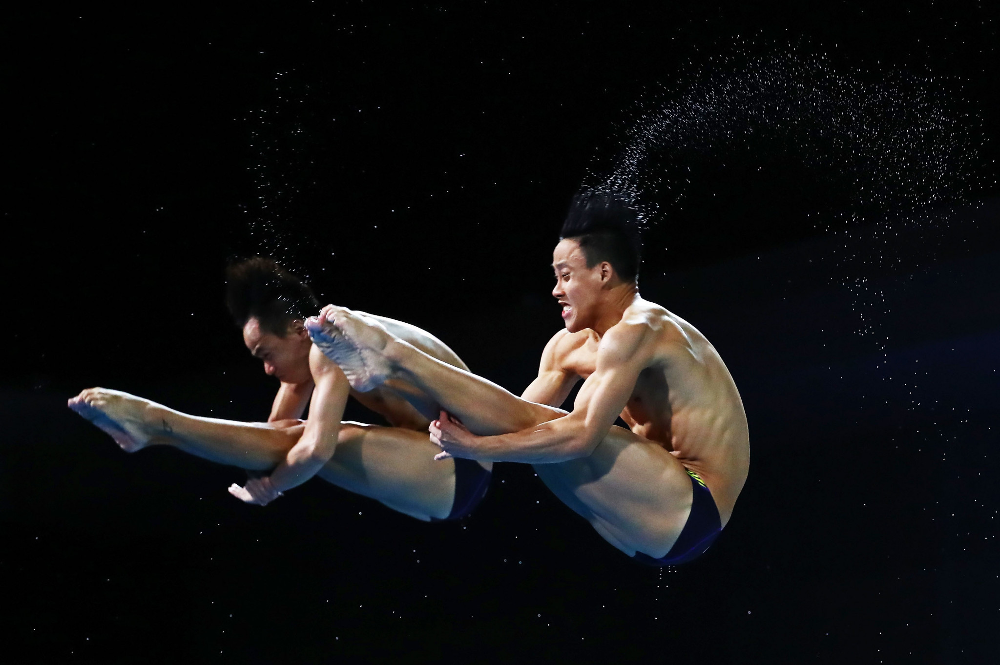Ooi Tze Liang and his partner Syafiq Puteh, not pictured, won gold in the men's synchronised 3m springboard event ©Getty Images