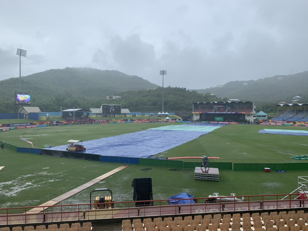 The rain in St Lucia prevented play in Group A ©ICC T20