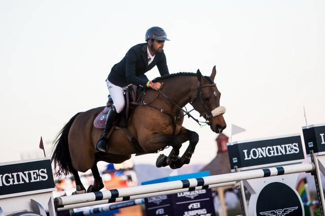 Egypt's Nayel Nassar won the International Equestrian Federation Jumping World Cup leg in Thermal for the second year in a row ©FEI