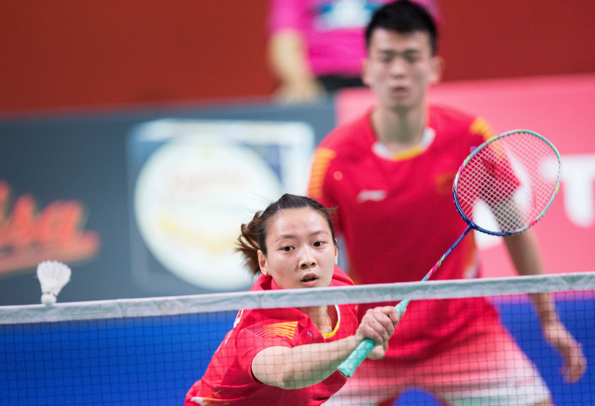 Zheng Siwei and Huang Yaqiong secured the mixed doubles title at their home event ©Getty Images