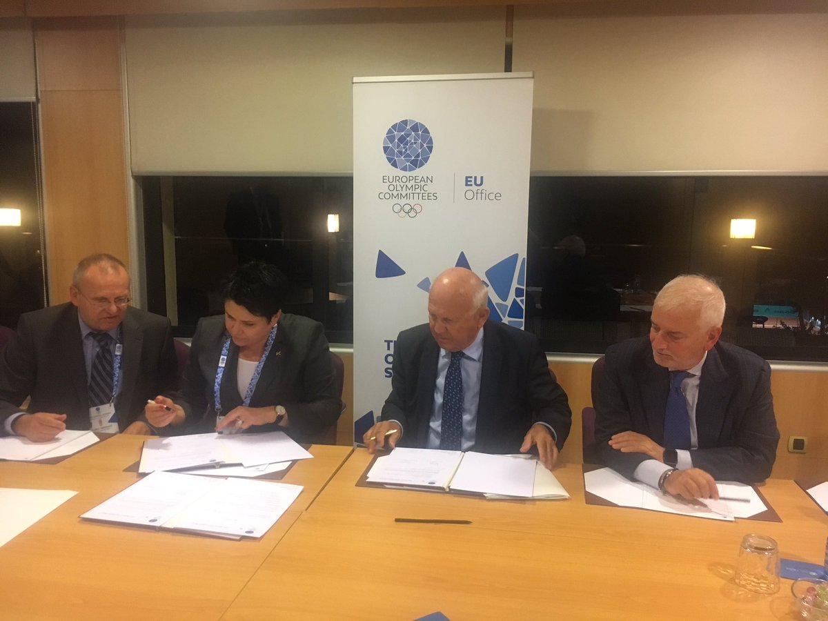 EOC EU Office signs partnership with National Olympic Committee of Lithuania