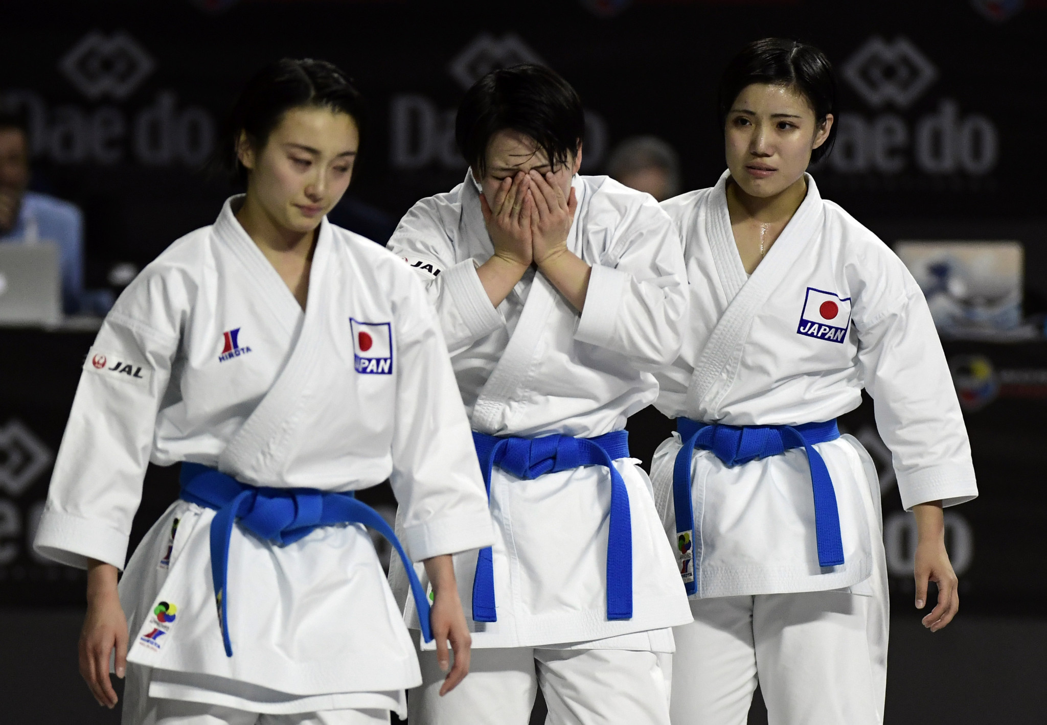 There were tears of joy from the Japanese team after they retained their title ©Getty Images