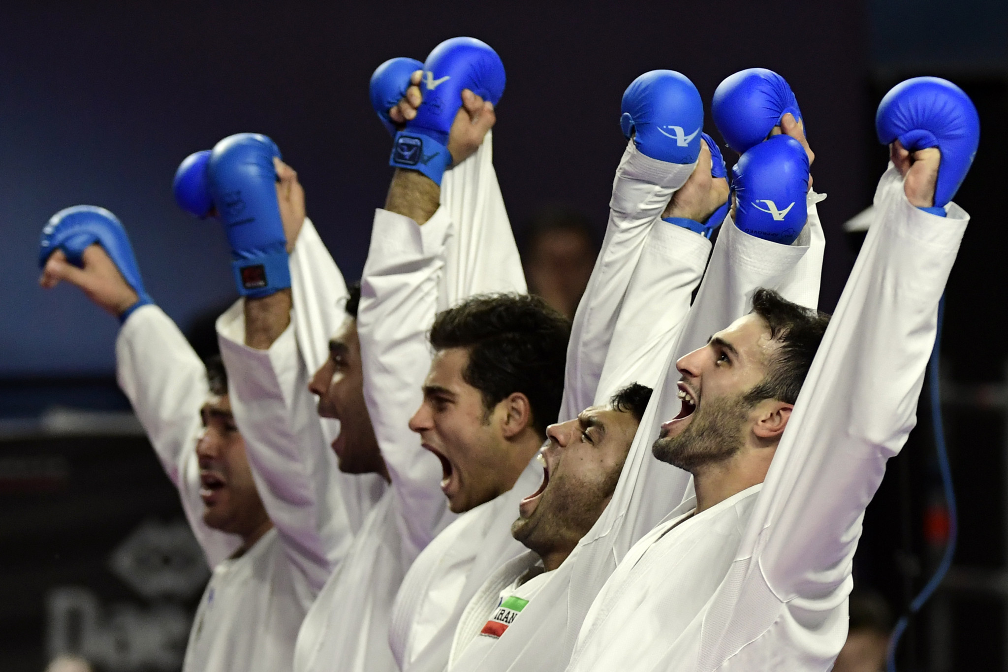 Iran fought back to beat Turkey in the men's team kumite final ©Getty Images