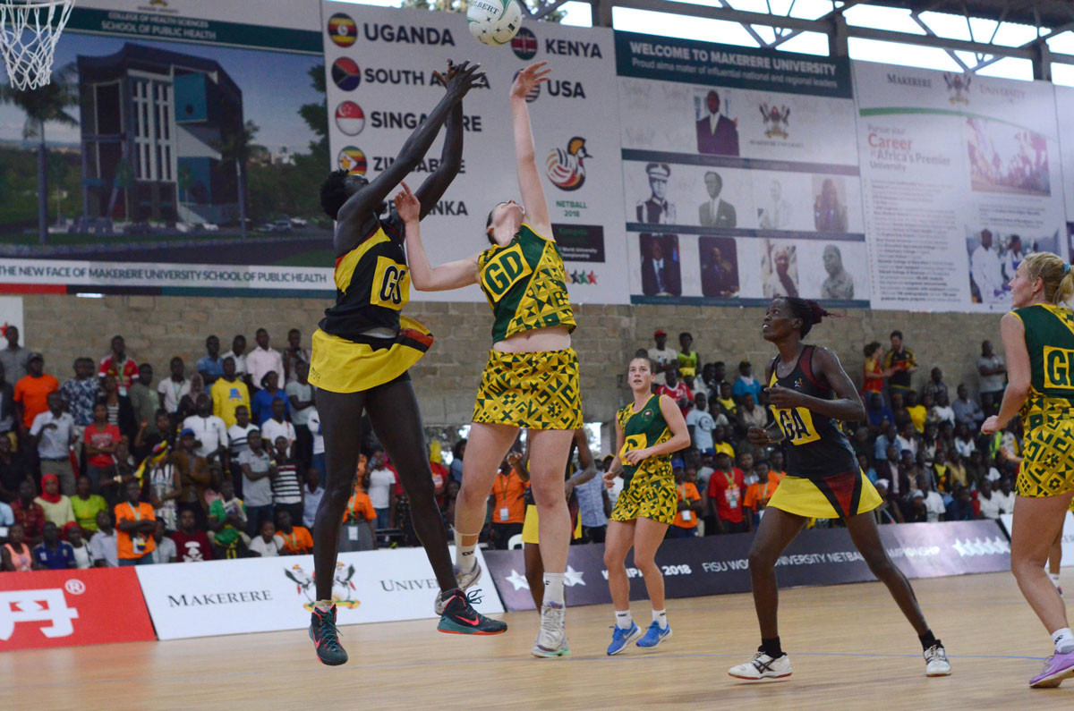 The World University Netball Championship final saw reigning champions South Africa beaten by one point by hosts Uganda in an exciting final at  Makerere University in Kampala ©FISU