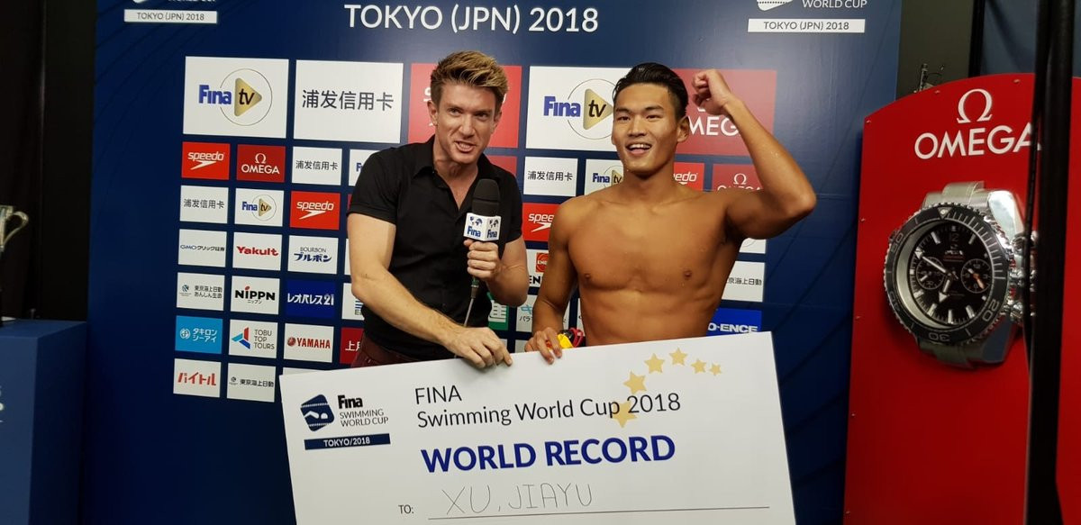 Xu sets world record as FINA World Cup concludes in Tokyo