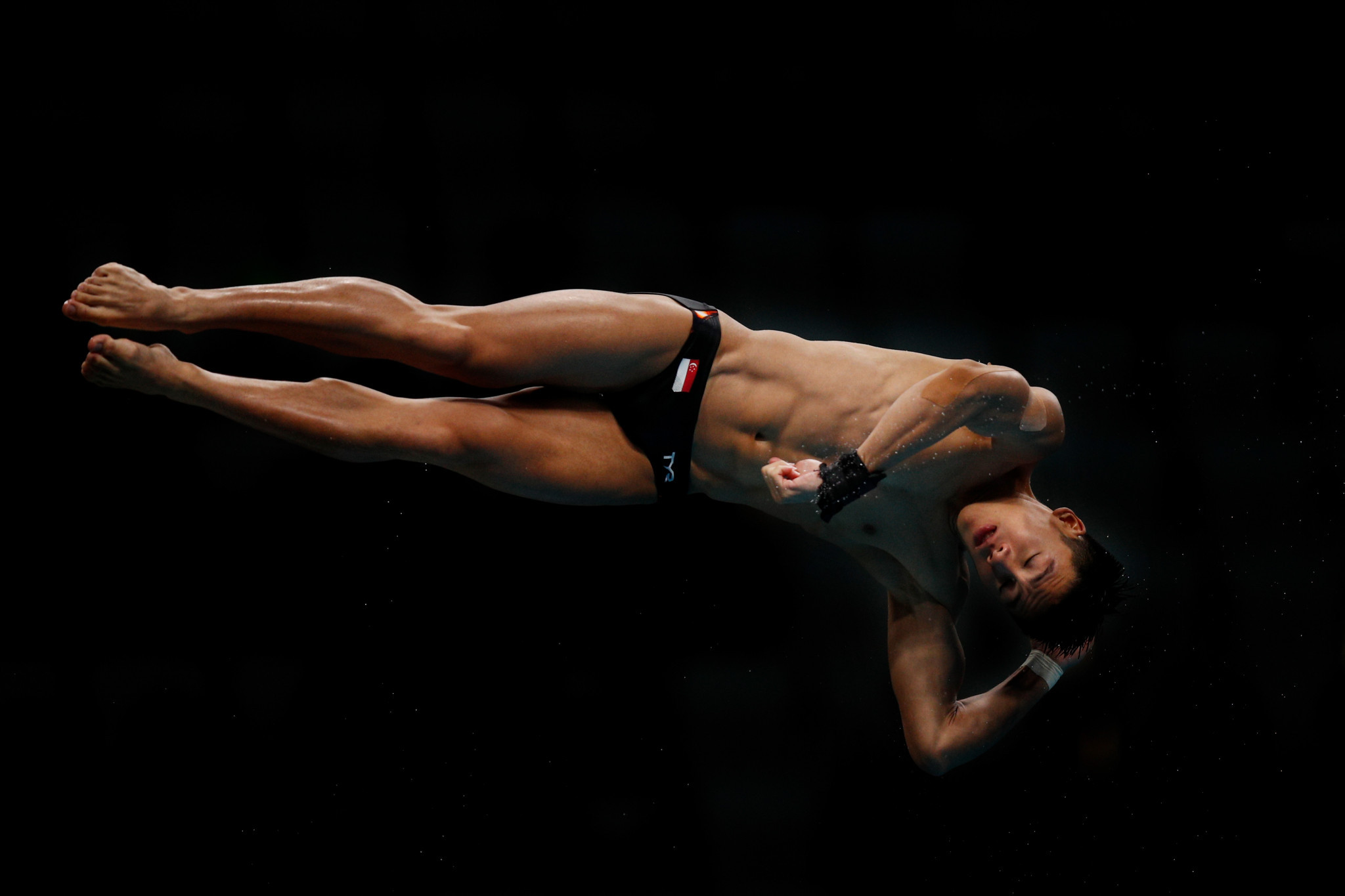 Singapore's Jonathan Chan couldn't challenge the Chinese or Malaysian divers for the gold but left Kuala Lumpur with bronze ©Getty Images