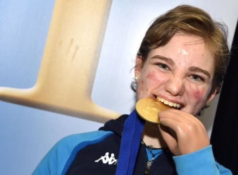 Italy's 21-year-old world and Paralympic champion Beatrice Vio tasted gold twice at the IWAS Wheelchair Fencing World Cup in Tbilisi, Georgia ©Twitter