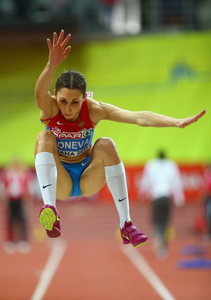 Yekaterina Koneva won the women's triple jump