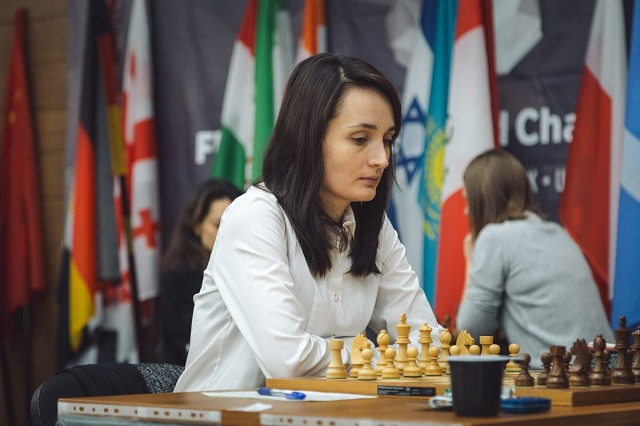 Russia's third-ranked Kateryna Lagno was one of two players to take a 1-0 lead in the quarter-finals of the Women's World Chess Championship at Khanty-Mansiysk in Russia  ©FIDE
