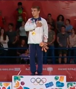 Belarus judoka Artem Kolosov won two Summer Youth Olympic Games gold medals at Buenos Aires 2018 ©YouTube