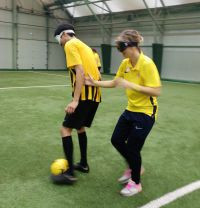 The training sessions and workshops were lead by IBSA Football chair, Ulrich Pfisterer ©IBSA