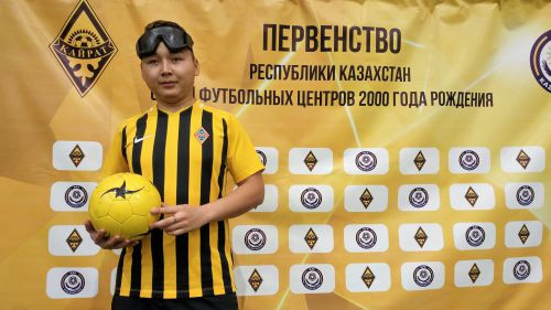 FC Kairat blind football captain Kanat Akymbaev hopes the workshop will be a starting point to develop the sport in his country ©IBSA