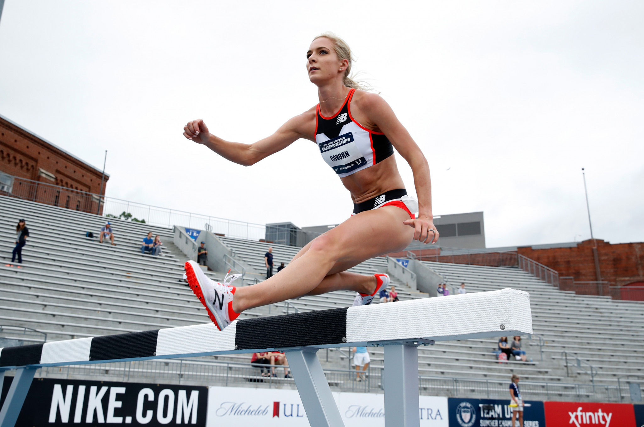 American world steeplechase champion Emma Coburn is among athletes to have called for change at WADA in recent weeks ©Getty Images