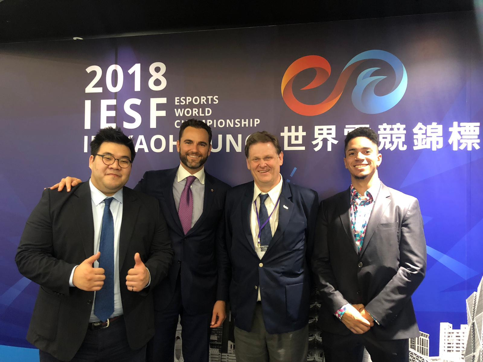 Vlad Marinescu, President of the United States eSports Federation, second left, wants to represent all of America's 60 million gaming fraternity after they were elected members of the International eSports Federation ©USeF