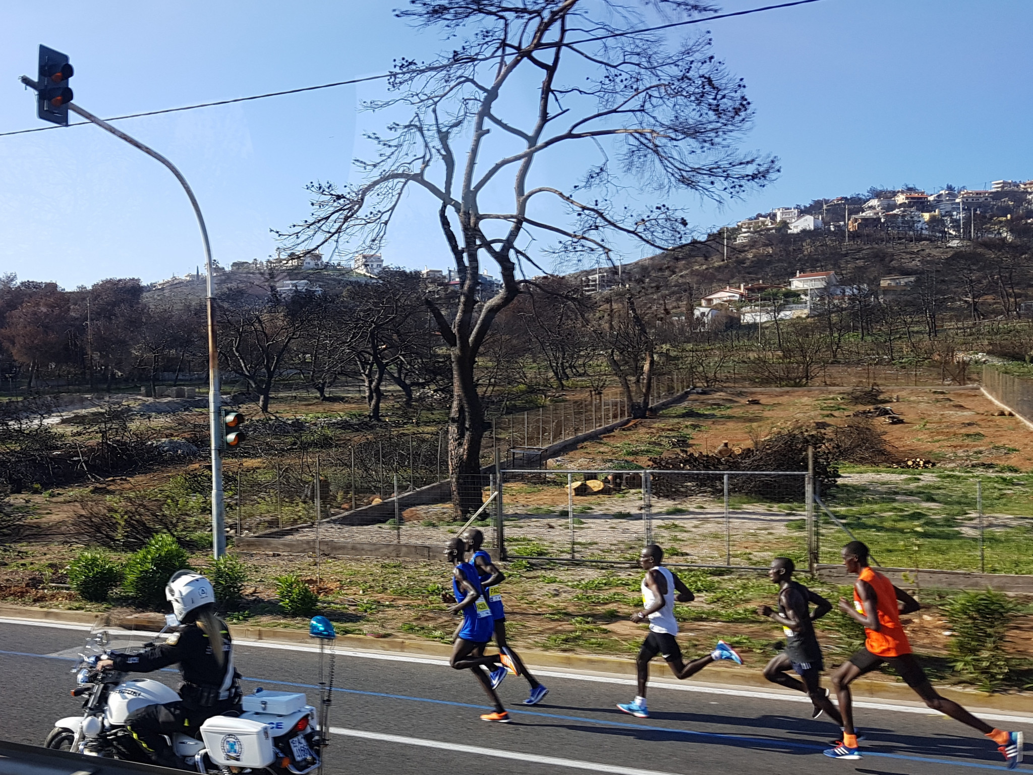 The race went through areas in Greece savaged by the summer's highly traumatic wildfires ©ITG