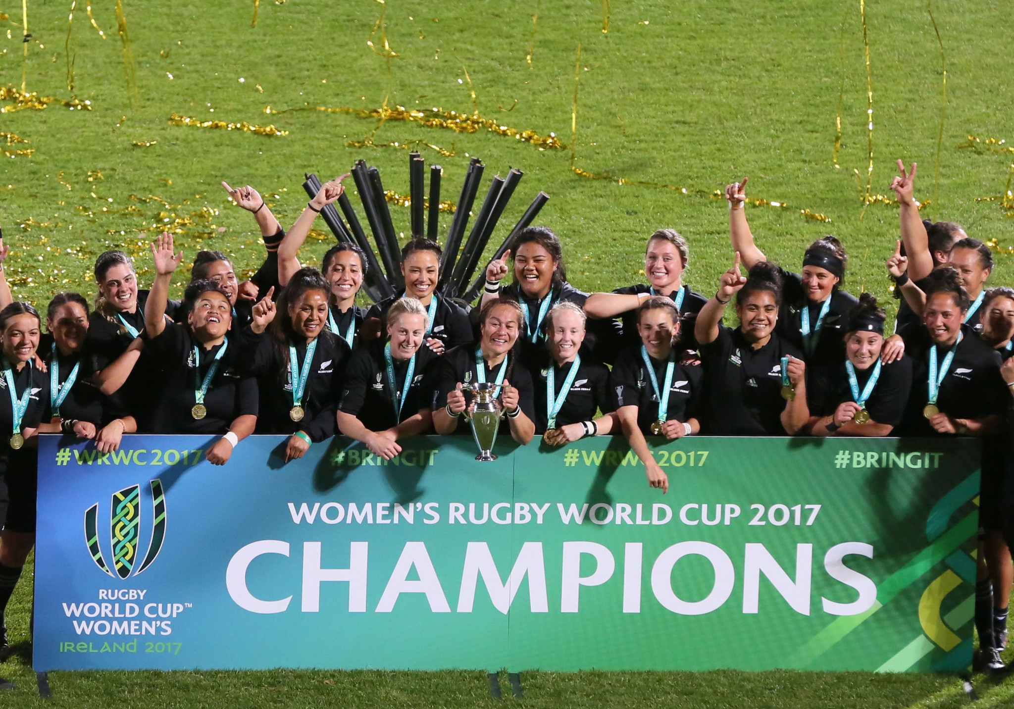 New Zealand won the Women's Rugby World Cup in Ireland last year for a record fifth time and will now the chance to defend the title before their home fans in 2021 ©Getty Images