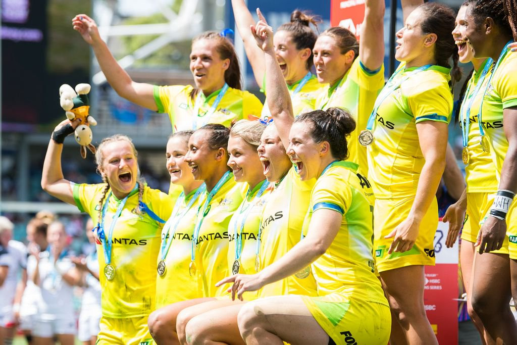Australia almost lost a 14-point lead in their final against New Zealand in their final of the Oceania Rugby Sevens ©Twitter