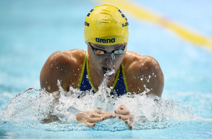 Sweden's Sarah Sjöström will defend her women's overall points lead in the final Swimming World Cup event of the year in Singapore starting from tomorrow ©Getty Images