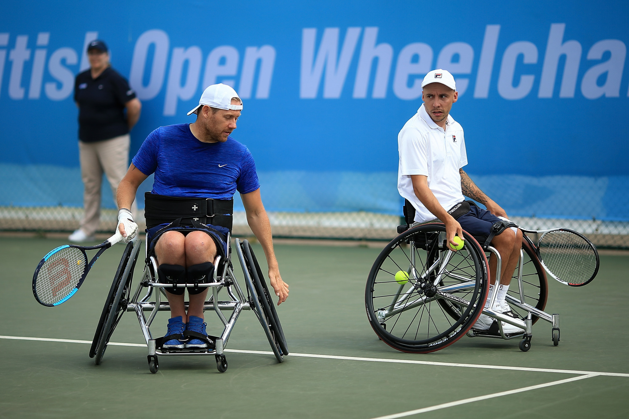 British pair Antony Cotterill and Andy Lapthorne are looking to qualify for the finals of the Wheelchair Doubles Masters in Bemmel to avenge their silver medals from last year ©Getty Images