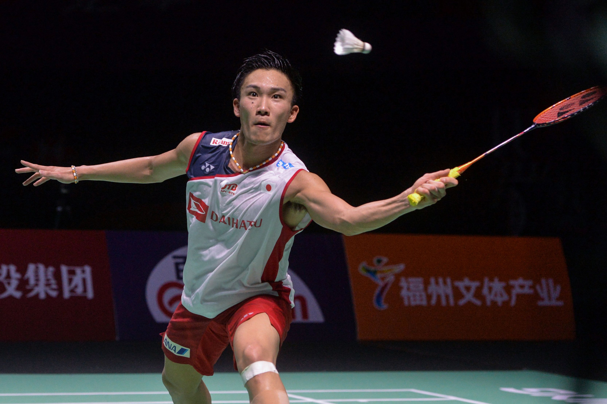 Japan's Kento Momota has won four BWF World Tour titles this year already, been crowned world champion and is now in the quarter-finals of the Hong Kong Open ©Getty Images