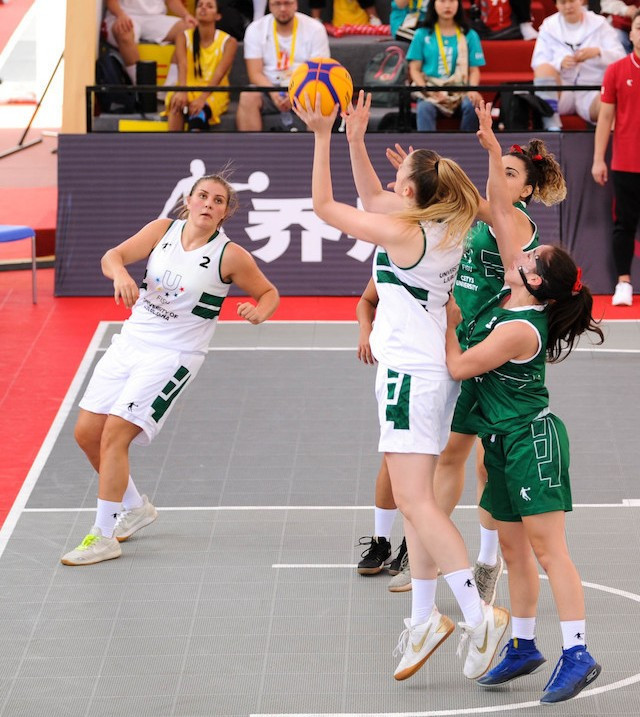 The University of Ljubljana team are off to the perfect start with two victories on the opening day of competition at the FISU 3x3 basketball World University League Finals in Xiamen ©FISU